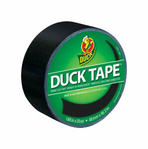 Duck 1 88 In W X 20 Yd L Black Solid Duct Tape
