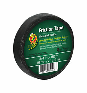 Duck 3 4 In W X 60 Ft L Black Cotton Cloth Friction Tape