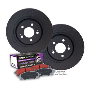 Dimpled Slotted Front Brake Rotors Pads For Mazda 3 Mps 2 3l Turbo 2006 2014
