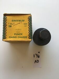 Greenlee No 730 1 7 8 Round Radio Chassis Punch 11 1 Ad