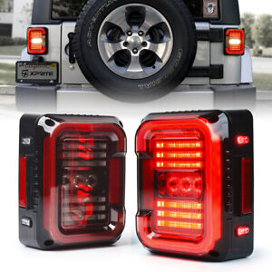 Xprite Led Tail Lights W Reverse Running Brake Light For 07 18 Jeep Wrangler Jk