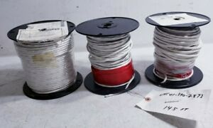 3 Rolls Of Electrical Wire 7662 Nsn 6145 390 2873 555 Total Ft