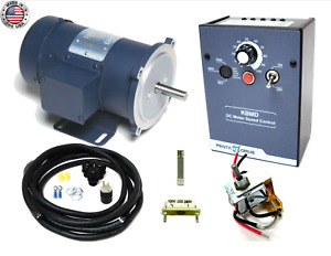 Kb Electronics Kbmd 240d Dc Drive 9370 W Leeson 1800rpm 1 2hp Motor Made In Usa