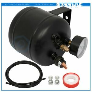 0 5 Gallon 150 Psi Black Air Tank Kit With Air Gauge Switch For Train Truck Horn