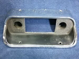 1967 1968 Ford Mustang Chrome Black Radio Bezel Surround Trim Panel Oem