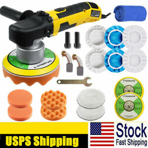 6 Dual Action Random Orbital Car Polisher Buffer 680w Polishing Machine Pad Kit