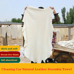 Natural Chamois Leather Car Drying Towel Shammy Cleaning Cloth Absorbent 60x90cm