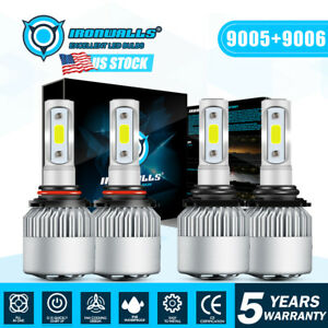 Led Headlight Hi Lo Bulbs For Chevy Pickup Truck 1500 2500 1990 1991 1992 2000