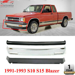 Front Bumper Chrome Strip Molding Valance For 1991 1993 Chevy Gmc S10 S15 Blazer