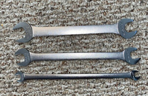 Vintage Craftsman 3 Pc Set Thin Tappet Double Open End Wrenches Sae Usa