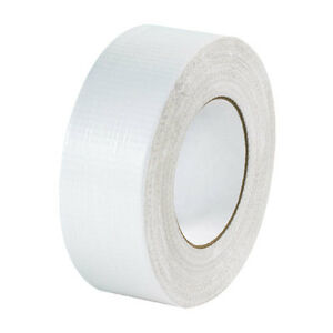 2 Rolls White Duct Tape Premium Quality Water Resistant American Made