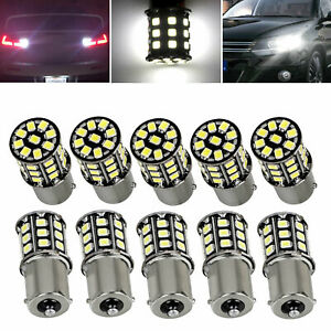 10x Very Bright White 1156 Rv Trailer 33 Smd Led 1141 Interior Light Bulbs Lamps