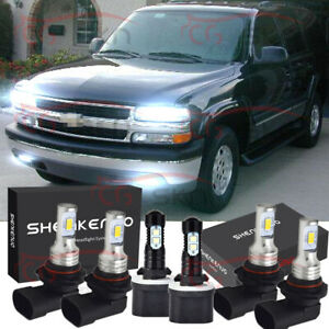 For Chevy Suburban 2000 2006 Tahoe 2001 06 6x Led Headlight Fog Light Bulbs Kit