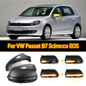 For Vw Passat B7 Cc Scirocco Jetta Mk6 Eos Led Dynamic Mirror Turn Signal Light
