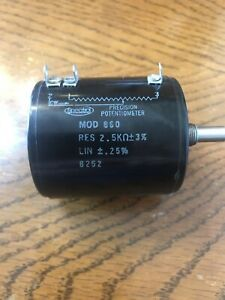 1 New Spectrol Mod 860 Precision Potentiometer 2 5k Ohm 3 Lin 2 5