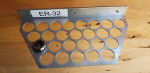 Er32 Collets Holder Rack Hold Up To 26 Collet Made In Usa Ship First Class