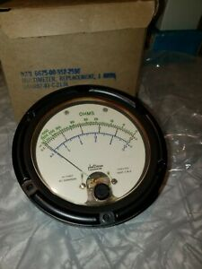 Large Phaostron Ruggedized Panel Meter 0 1000 Ohm 0 100vdc 0 100ac New Old Stock