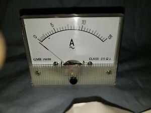New Analog Panel Meter Ac 0 15 Amperes Gme Pm89 Class 2 5