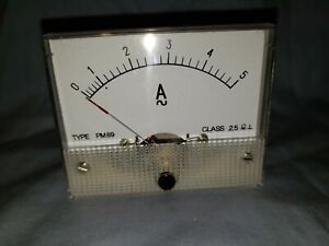 New Analog Panel Meter Ac 0 5 Amperes Gme Pm89 Class 2 5 Make An Offer