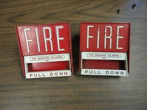 Fire lite bg6 Fire Alarm Pull Station 120 Volt Red Metal Pre owned