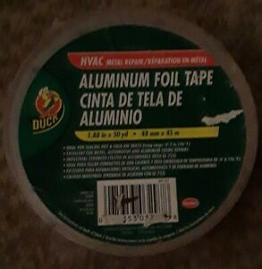 Duck 240225 Hvac Metal Repair Aluminum Foil Tape 1 88 X 50 Yard