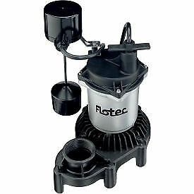 Flotec Submersible Thermoplastic Sump Pump 1 3 Hp Vertical Switch Fpzs33v 1