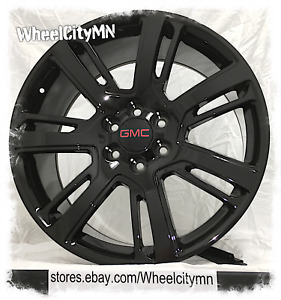 24 Inch Gloss Black 2015 Cadillac Escalade Oe Replica Wheels Gmc Denali 6x5 5