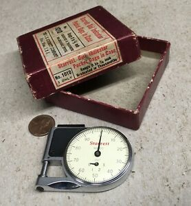 Starrett No 1010 Dial Indicator Pocket Gage With Box