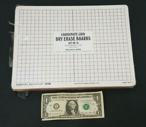 Learning Advantage Small Dry Erase Board Pack Of 10 Line Grid 9x12 Inch