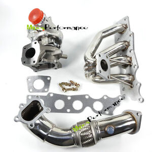 For Mazda Cx 7 2 3l Exhaust Manifold K0422 582 Turbocharger 3 Downpipe