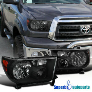 For 2007 2013 Toyota Tundra 2008 2017 Sequoia Headlights Lh Rh Black