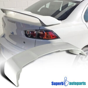 For 2008 2015 Mitsubishi Lancer Unpainted Abs Plastic Rear Trunk Spoiler Wing