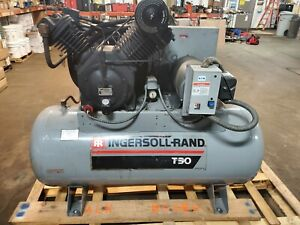 Pre owned Ingersoll Rand T30 Air Compressor 2 Stage 10 Hp 230 460vac 3 pha