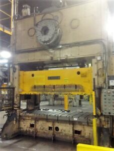 300 Ton Straight Side Press double Crank 12 Stroke 120 X 54 Usi Clearing