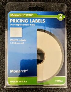 Monarch 2 line Pricing Labels For 1136 2 Rolls Total 3500 Labels
