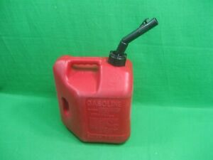 Vintage Blitz Gas Can Red Plastic 2 Gallons 8 Ounces Model 50810