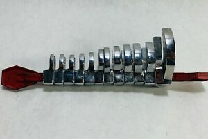 Snap On 11 Piece Metric Flare Nut Crowfoot Wrench Set Flank Drive 9mm 19mm Used