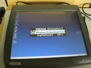 Micros Oracle Workstation 5 System Unit 400814 001 Touch Screen Pos System
