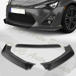 For 2013 2016 Scion Fr S Toyota 86 Cs Style Black Front Bumper Body Kit Lip 3pcs