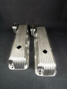 Cal Custom Ford Fe 390 427 428 Valve Covers Prof Polished New Breathers Perfect