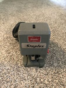 Vintage Staplex Sjm 1 Heavy Duty Electric Stapler Type Ds Tested