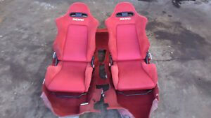 Honda Integra Dc5 Type R Red Racing Recaro Seats Jdm Rhd Red Floor Carpet