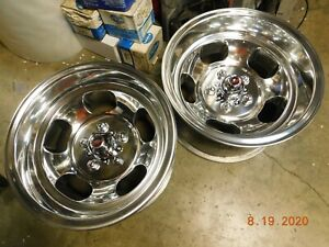 Polished U s Indy 15x8 5 Slot Mag Wheels Chevelle Camaro 442 Gto Ss Chevy Van