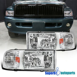For 1994 2001 Dodge Ram 1500 2500 3500 1pc Headlights Head Lamps Replacement