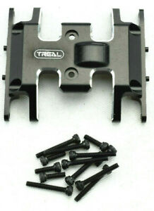 Treal Axial Scx24 Black Aluminum Center Gearbox Skid Plate