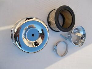 Tri Power Air Cleaners Chrome Louvered Stromberg Ford Rochester 2 5 8 Neck