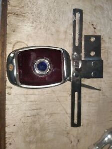 Vintage Tail Light And License Plate Bracket