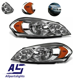 As Headlights Fit For 2006 2013 Chevy Impala 2006 2007 Monte Carlo Chrome Lamp