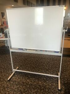 Smarty Hippo Standing Mobile Whiteboard 48x36 portable magnetic Dry Erase new