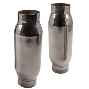 X2 3 Inlet 3inch Outlet Universal Exhaust Mufflers Resonator High Flow